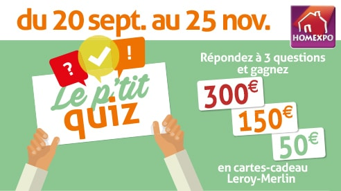 Le P'tit Quiz Homexpo Facebook