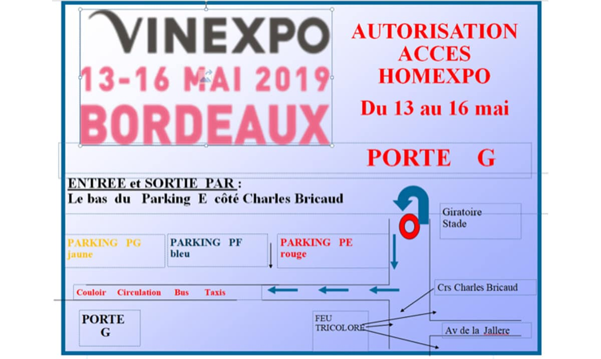 Autorisation d'accès au parking Vinexpo
